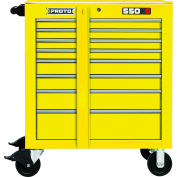 "Proto® 450HS 34"" Roller Cabinet - 8 Drawer, Yellow, 34""L X 41""H X 25""D"