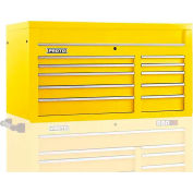 "Proto® 450HS 50"" Top Chest - 10 Drawer, Yellow, 50""L X 27""H X 25""D"