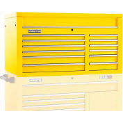 "Proto® 450HS 50"" Top Chest - 12 Drawer, Yellow, 50""L X 27""H X 25""D"