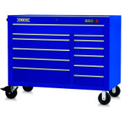 "Proto J455041-12BL 450HS 50"" Workstation - 12 Drawer, Blue, 50""L X 41""H X 25""D"