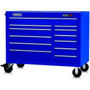 "Proto J555041-12BL 550S Series 50""W X 25""D X 41""H 12 Drawer Blue Workstation"