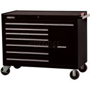 "Proto J455041-7BK-1S 450HS 50"" Workstation - 7 Drawer & 1 Shelf, Black, 50""L X 41""H X 25""D"