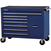 "Proto® 450HS 50"" Workstation - 7 Drawer & 1 Shelf, Blue, 50""L X 41""H X 25""D"