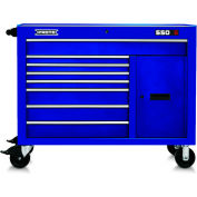 "Proto® 450HS 50"" Workstation - 8 Drawer & 1 Shelf, Blue, 50""L X 41""H X 25""D"