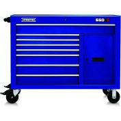 """Proto J555041-8BL-1S 550S Series 50""""W X 25""""D X 41""""H 8 Drawer & 1 Shelf Blue Workstation"""