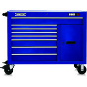 "Proto® 450HS 50"" Workstation - 8 Drawer & 2 Shelves, Blue, 50""L X 41""H X 25""D"