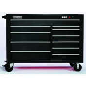 "Proto J555743-11BK 550S Series 57""W X 25""D X 43""H 11 Drawer Black Workstation"