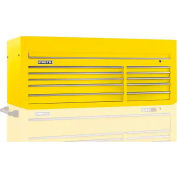 """Proto J556627-10YL 550S Series 66""""W X 27""""D X 27""""H 10 Drawer Yellow Top Chest"""
