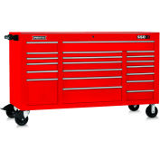 """Proto J556741-20RD 550S Series 67""""W X 25-1/4""""D X 41""""H 20 Drawer Red Workstation"""