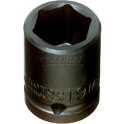 "Proto® 1/2"" Drive Impact Socket 19 mm - 6 Point, 1-1/2"" Long"