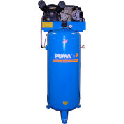 Puma PK-6060V, 3 HP, Single-Stage Compressor, 60  Gal, Vertical, 135 PSI, 11.3 CFM, 1-Phase 208-230V