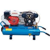 Puma PUK-5508G, 5.5 HP, Wheelbarrow Gas Compressor, 8 Gallon, 135 PSI, 9.2 CFM, Honda, Recoil