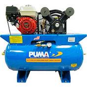 Puma PUK-5530HG, 13 HP, Stationary Gas Compressor, 30 Gallon, 135 PSI, 12 CFM, Honda, Recoil