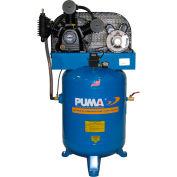 Puma TE-3040V, 3 HP, Two-Stage Compressor, 40 Gallon, Vertical, 175 PSI, 10.2 CFM, 1-Phase 208-230V