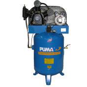 Puma TE-5040V, 5 HP, Two-Stage Compressor, 40 Gallon, Vertical, 175 PSI, 14 CFM, 1-Phase 208-230V