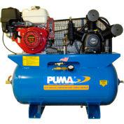 Puma TE-8030HGE, 8 HP, Stationary Gas Compressor, 30 Gal, 175 PSI, 16.5 CFM, Honda,  Electric/Recoil