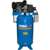Puma TN-5080VM, 5 HP, Two-Stage Compressor, 80 Gallon, Vertical, 175 PSI, 18 CFM, 1-Phase 208-230V
