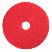 "Boss Cleaning Equipment 16"" Red-Spray Buff Pad - Pkg Qty 5"
