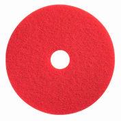 "Boss Cleaning Equipment 19"" Red-Spray Buff Pad - Pkg Qty 5"