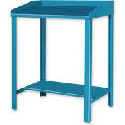 """36""""W x 30""""D Open Steel Shop Desk - Putty"""