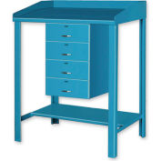 """36""""W x 30""""D Open Steel Shop Desk with Four Drawers - Putty"""