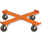 """Pucel™ 75 Cross Drum Dolly with Rubber Casters - 24-1/2"""" Gray"""