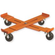 """Pucel™ AD-15 Adjustable Drum Dolly Rubber Casters - 14-1/4"""" to 19-1/4"""""""