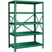 "Pucel™ Shelving Unit, 42""W x 72""H x 18""D, 5 Levels, 14 GA Shelves, 10 GA Posts, Dark Green"