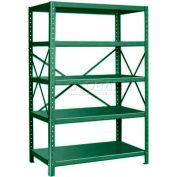 """Pucel™ Shelving Unit, 42""""W x 72""""H x 18""""D, 5 Levels, 14 GA Shelves, 10 GA Posts, Dark Green"""