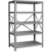"Pucel™ Shelving Unit, 42""W x 72""H x 18""D, 5 Levels, 14 GA Shelves, 10 GA Posts, Lt Blue"