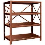 "Pucel™ Shelving Unit, 48""W x 60""H x 24""D, 4 Levels, 14 GA Shelves, 10 GA Posts, Dark Brown"