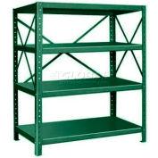 """Pucel™ Shelving Unit, 48""""W x 60""""H x 24""""D, 4 Levels, 14 GA Shelves, 10 GA Posts, Dark Green"""