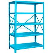 "Pucel™ Shelving Unit, 48""W x 72""H x 24""D, 5 Levels, 14 GA Shelves, 10 GA Posts, Light Blue"