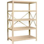 "Pucel™ Shelving Unit, 48""W x 72""H x 24""D, 5 Levels, 14 GA Shelves, 10 GA Posts, Putty"