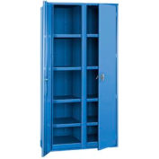"Partitioned Storage Cabinet - 36""W x 19""D x 72""H Blue"