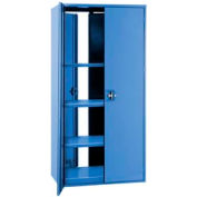 """Double Sided Door Storage Cabinet - 48""""W x 24""""D x 72""""H Blue"""