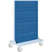 "Pucel Louvered Panel 36"" x 61"" for Portable Bin Cart Blue"