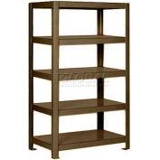 "Pucel™ Shelving Unit, 30""W x 65""H x 14""D, 5 Levels, 12 GA Shelves, Welded, Dark Brown"