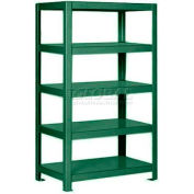 "Pucel™ Shelving Unit, 36""W x 65""H x 14""D, 5 Levels, 12 GA Shelves, Welded, Dark Green"