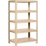 """Pucel™ Shelving Unit, 36""""W x 65""""H x 14""""D, 5 Levels, 12 GA Shelves, Welded, Putty"""
