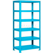 "Pucel™ Shelving Unit, 48""W x 65""H x 14""D, 6 Levels, 12 GA Shelves, Welded, Light Blue"
