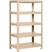 """Pucel™ Shelving Unit, 30""""W x 65""""H x 18""""D, 5 Levels, 12 GA Shelves, Welded, Putty"""