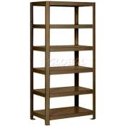 "Pucel™ Shelving Unit, 36""W x 65""H x 18""D, 6 Levels, 12 GA Shelves, Welded, Dark Brown"