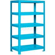"Pucel™ Shelving Unit, 48""W x 65""H x 18""D, 5 Levels, 12 GA Shelves, Welded, Light Blue"