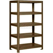 "Pucel™ Shelving Unit, 30""W x 65""H x 24""D, 5 Levels, 12 GA Shelves, Welded, Dark Brown"