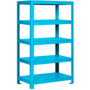 "Pucel™ Shelving Unit, 48""W x 65""H x 24""D, 5 Levels, 12 GA Shelves, Welded, Light Blue"