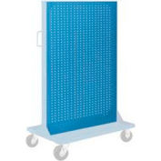 """Pucel Pegboard Panel 36"""" x 61"""" for Portable Bin Cart Blue"""