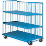Pucel™ SS-60 Sliding Shelf Truck with Phenolic Casters 2000 Lb. Capacity