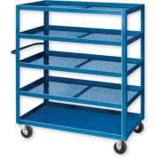 Pucel™ X-2436 Expanded Metal Stock Cart Phenolic Casters 2000 Lb. Cap.