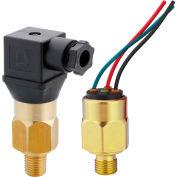 """PVS Sensors 151051, AVA-1-4M-C-SP(Adjustable 5-28 INHg) Model 1, Brass, 1/4 NPT, SPDt, 1/4"""" Spades"""